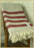 Lambswool Natural Throw - Plaid