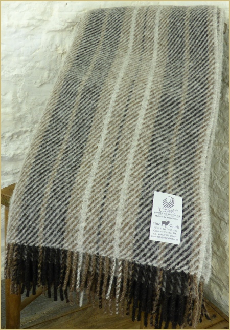 Natural 100 Pure New British Wool Plaid Amp Stripe Throws One