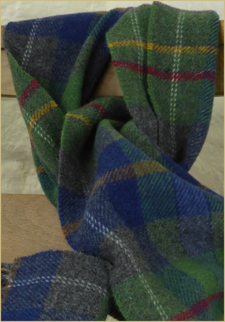 Cotswold Woollen Weavers' Oxfordshire Check Throw in Lambswool Merino is £69