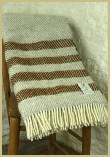 Lambswool Natural Throw - Mist