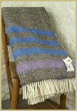 Lambswool Natural Throw - Light Windowpane