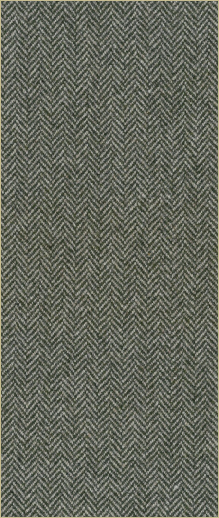 Cotswold Woollen Weavers' Pure New Wool herringbone upholstery cloth - Olive