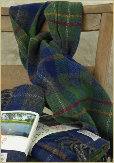 Cotswold Woollen Weavers' Oxfordshire Check Merino Lambswool Scarf