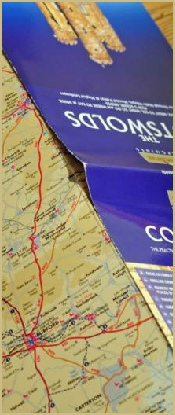 When you hire a bicycle from Cotswold Woollen Weavers in Filkins, everything, icluding a map, is provided