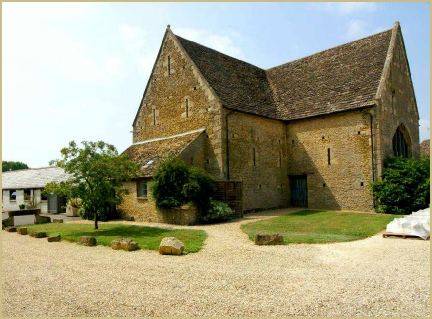Cotswold Woollen Weavers barn in summer
