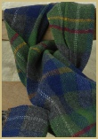 Cotswold Woollen Weavers' Oxfordshire Check Scarf in Lambswool Merino